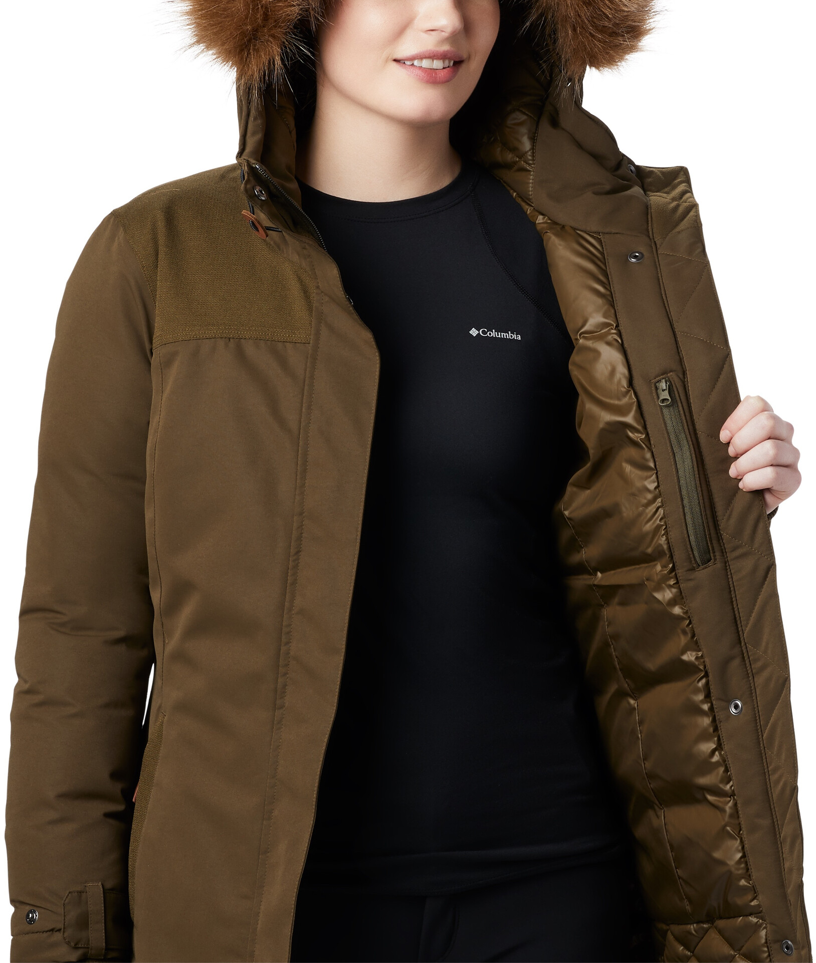 Columbia Lindores Giacca Donna, olive green su Addnature TCAD6